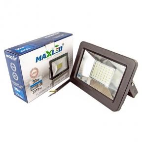 Naświetlacz LED 30W czarny zimnobiały 2310lm 6000K IP65 8864 MAXLED SUPRA