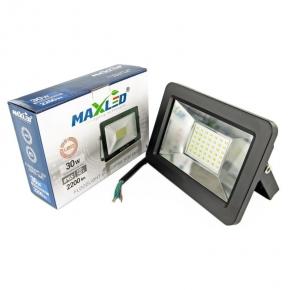 Naświetlacz LED 30W czarny 4500K 2200lm IP65 8802 MAXLED SUPRA