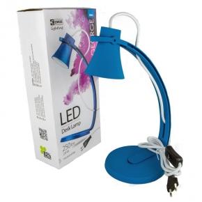 Niebieska lampa biurkowa led 2,4W 250lm 4000K George Z7501BL EMOS