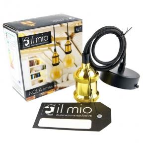 Oprawa oświetleniowa złota typu zwis IL MIO NOLA E27 PATYNA
