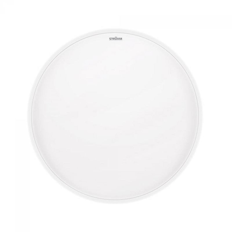 Plafoniera LED okrągła biała z czujnikiem mikrofalowym 16W IP44 4000K Ø325 SOLA SMD LED MVS STRUHM