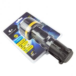 Latarka LED gumowa ręczna czarna FHH0022 MACTRONIC