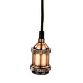 Lampa loftowa wisząca E27 NOLA MIEDŹ DS-M-002A POLUX