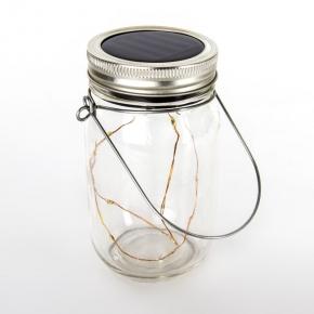 Lampa solarna słoik lampion na wesele z białym światłem SRQ20402 POLUX