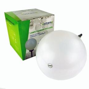 Lampa solarna mleczna kula 25cm VO0655 SOLAR VOLTENO
