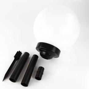 Lampy-kule-ogrodowe - lampa solarna mleczna kula 25cm vo0655 solar volteno