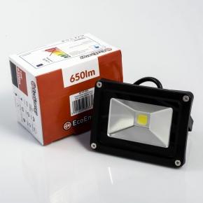 EcoEnergy Naświetlacz LED 10W IP65 650lm 6000k 120° czarny  EE-09-401