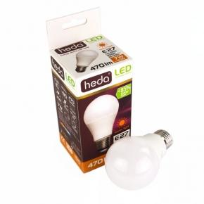 Żarówka LED bańka mleczna Heda LED HD100P A60 E27 7W-40W 470lm 200st. 3000K ciepły, Energy A+