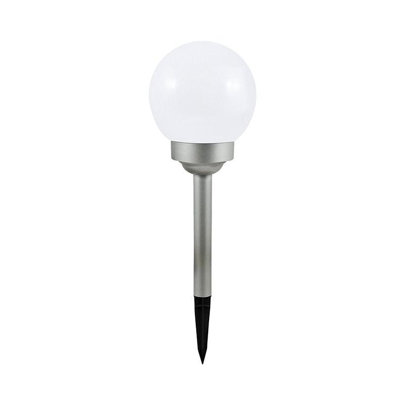 10271L Lampka solarna do ogrodu kula mleczna 15 cm POLUX 309310