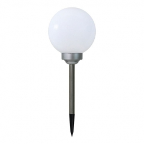 Lampy-kule-ogrodowe - srq10271l lampa solarna do ogrodu kula mleczna polux  309303
