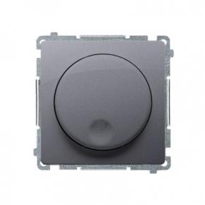 Ściemniacz naciskowo-obrotowy srebrny mat BMS9T.01/43 Simon Basic Kontakt-Simon