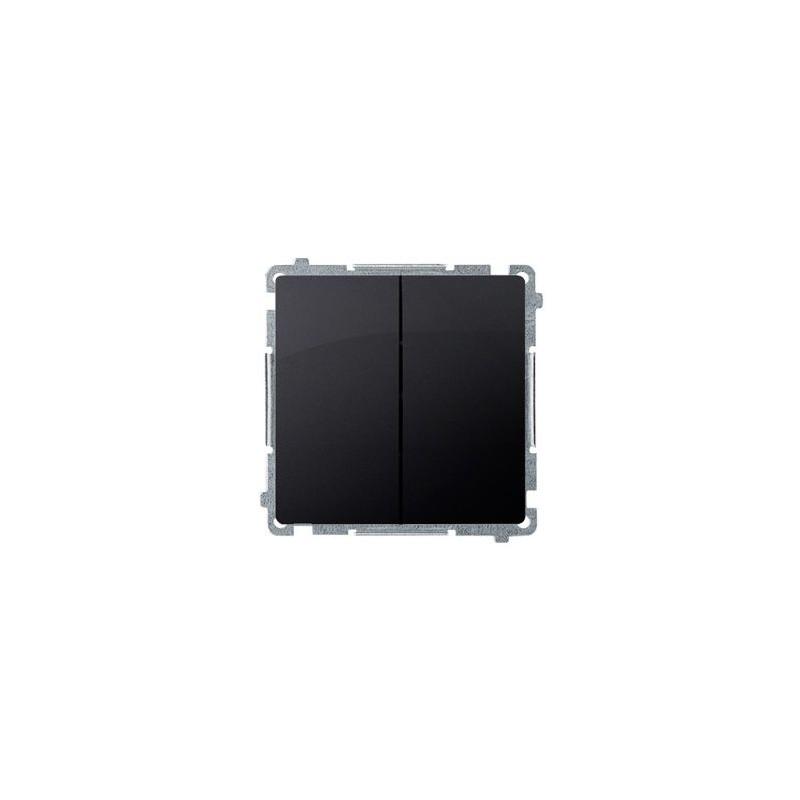 Wylaczniki-podwojne - włącznik świecznikowy (moduł) 16ax 250v, zaciski śrubowe, grafit mat, metalizowany bmw5a.01/28, seria simon basic, kontakt-simon firmy Kontakt-Simon