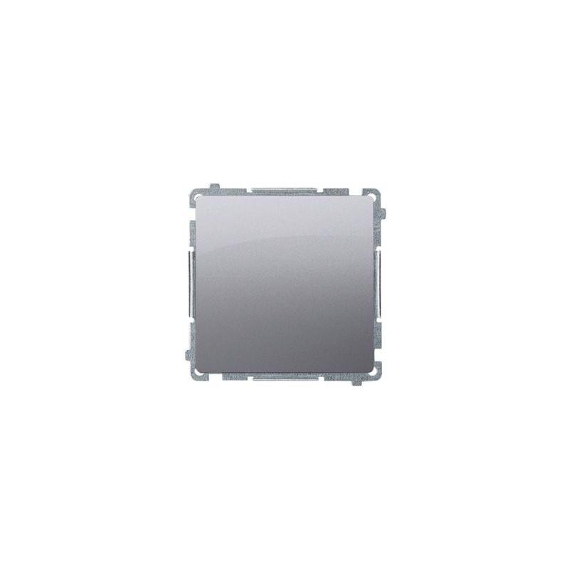 Wylaczniki-jednobiegunowe - włącznik jednobiegunowy (moduł) 16ax 250v, zaciski śrubowe, inox, metalizowany bmw1a.01/21, seria simon basic, kontakt-simon firmy Kontakt-Simon