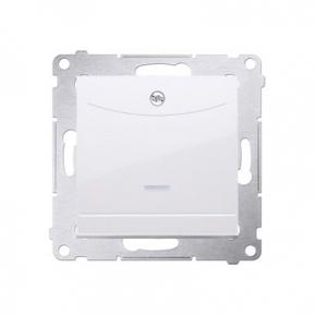 Wlaczniki-hotelowe - włącznik hotelowy z podświetleniem zacisk kleszczowy biały dwh1.01/11 simon 54 kontakt-simon