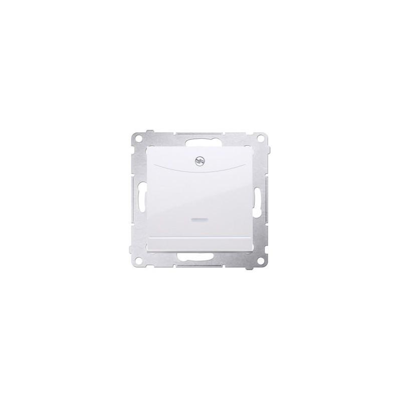 Wlaczniki-hotelowe - włącznik hotelowy z podświetleniem zacisk kleszczowy biały dwh1.01/11 simon 54 kontakt-simon firmy Kontakt-Simon