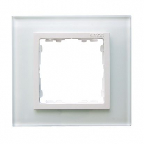 Ramka pojedyncza szklana biały / biała 82617-30 Simon 82 Nature Kontakt-Simon