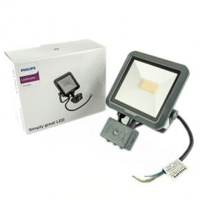 Naświetlacz LED z czujnikiem ruchu 10W 900lm 100° 4000K neutralny IP65 grafit BVP105 LED9/840 PSU VWB100 MDU  PHILIPS