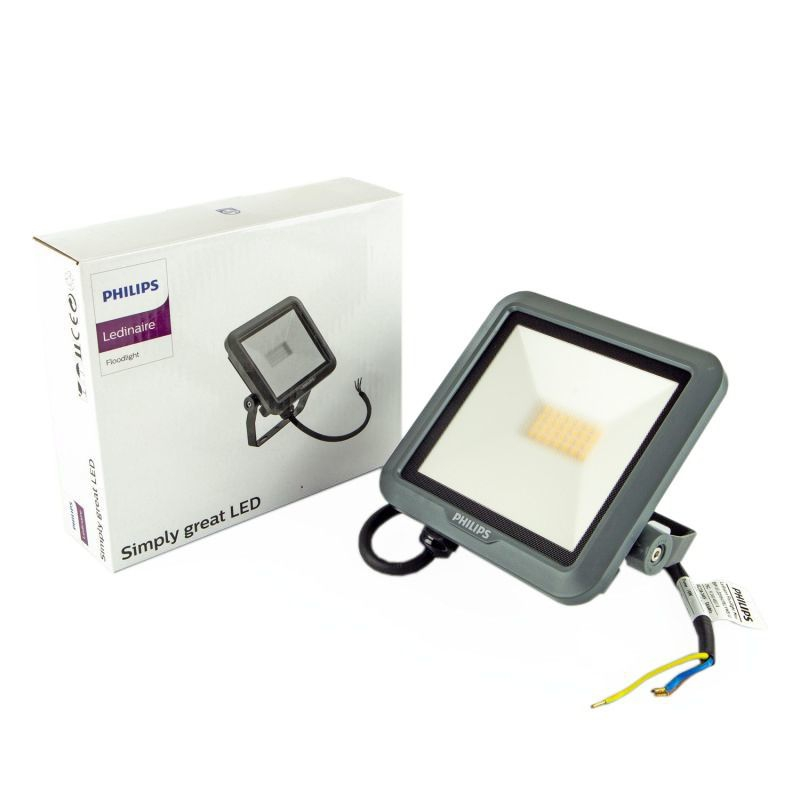 LED-owy naświetlacz 10W 900lm 100° 4000K neutralny IP65 grafit BVP105 LED9/840 PHILIPS
