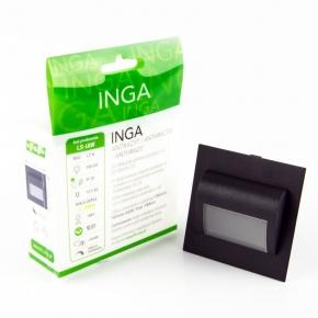 Oprawa schodowa LED 1.2W 100lm 3000K 12VDC IP20 antracyt LS-IAW Inga F&F