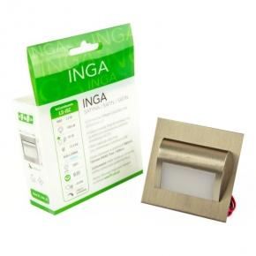 Oprawa LED schodowa 1.2W 100lm 6000K 12VDC IP20 satyna LS-ISC Inga  F&F