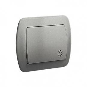 Przycisk zwierny światło aluminiowy AS1/26 Simon Akord Kontakt- Simon