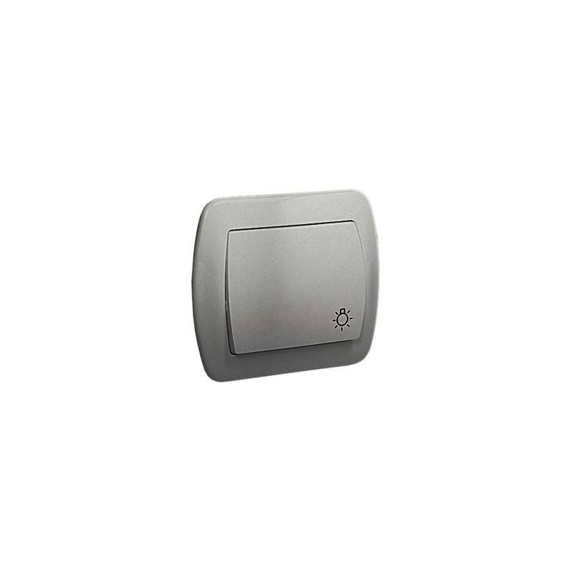 Wylaczniki-typu-swiatlo-zwierne - przycisk zwierny światło aluminiowy as1/26 simon akord kontakt- simon firmy Kontakt-Simon