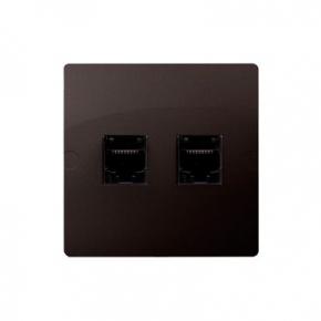 Gniazda-komputerowe - gniazdo komputerowe podwójne rj45 5e czekoladowy mat bmf52.02/47 simon basic kontakt-simon