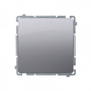 Przycisk pojedynczy zwierny bez piktogramu 10AX 250V inox BP1.01/21 Simon Basic Kontakt-Simon