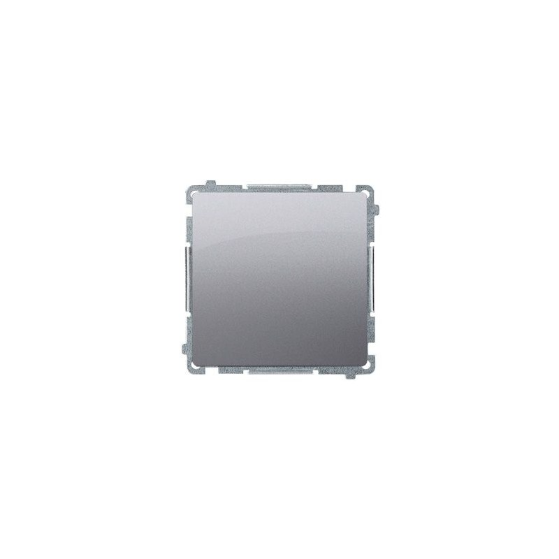 Wylaczniki-typu-swiatlo-zwierne - przycisk pojedynczy zwierny bez piktogramu 10ax 250v inox bp1.01/21 simon basic kontakt-simon firmy Kontakt-Simon