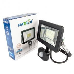 Naświetlacz LED SMD 30W z czujnikiem ruchu MAXLED SUPRA