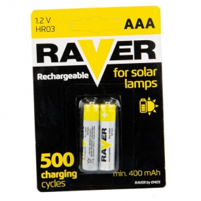 Akumulatorki do lamp solarnych AAA 1,2V B7414 HR03/B2 RAVER