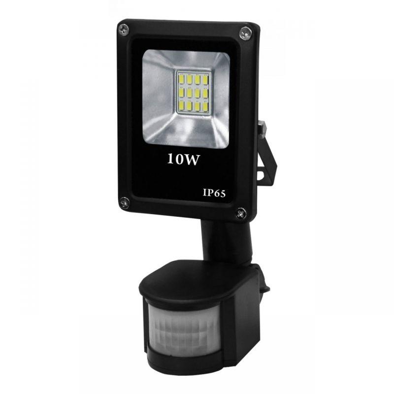 Naświetlacz LED 10W z czujnikiem ruchu IP65 500lm 6000 czarny VO0764 VOLTENO