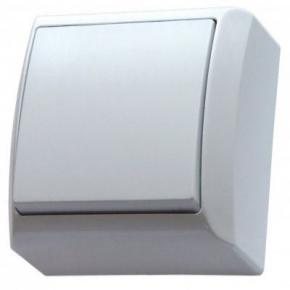 Włącznik jednobiegunowy natynkowy biały ŁN-1B/00 BIS OSPEL