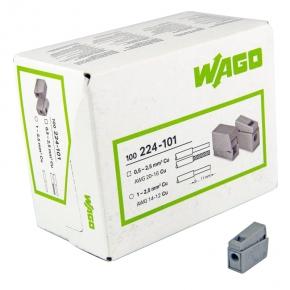 Szybkozlaczki - szybkozłączka oświetleniowa pojedyncza szara 0,5-2,5mm2 224-101 wago
