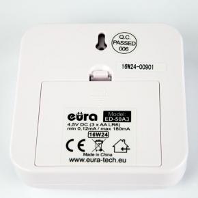 Dzwonki-do-drzwi-bezprzewodowe - dźwiękowy sygnalizator wejść foto-optyczny ed-50a3 eura-tech