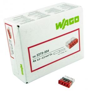 Szybkozlaczki - szybkozłączka drut 4x0,5-2,5mm2 2273-204 wago