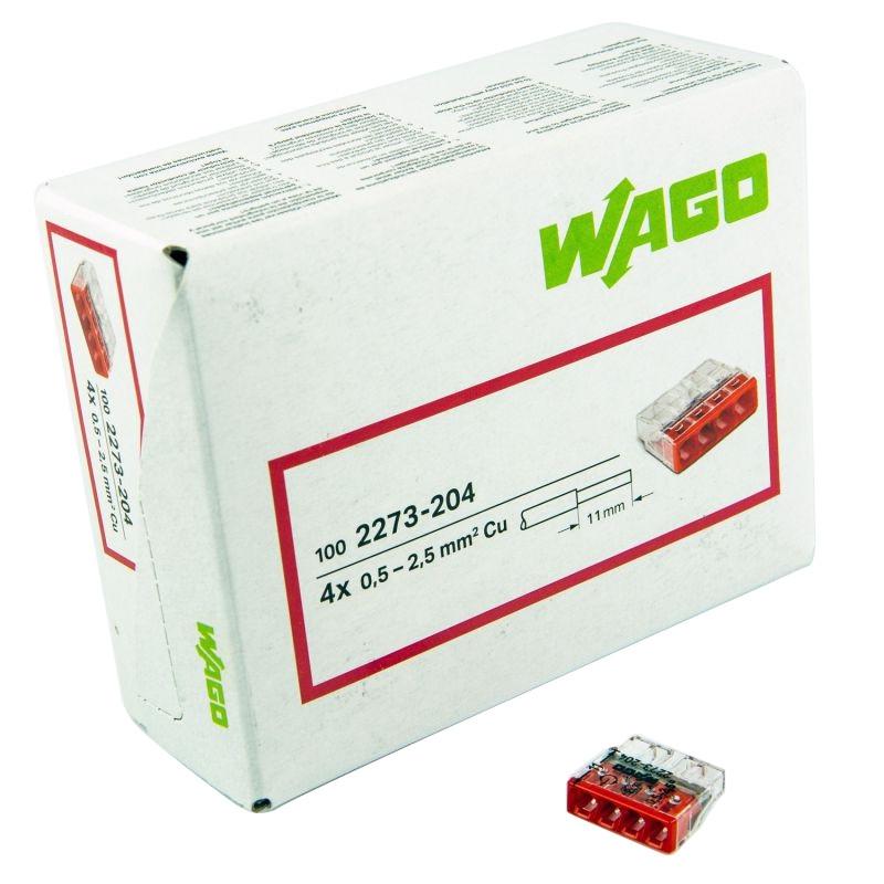 Szybkozlaczki - szybkozłączka drut 4x0,5-2,5mm2 2273-204 wago firmy WAGO