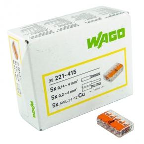 Szybkozlaczki - szybkozłączka uniwersalna 5x4 otwierana 221-415 wago