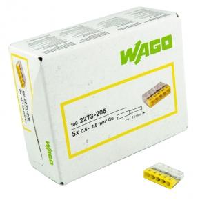 Szybkozlaczki - złączka instalacyjna drut 5x0,5-2,5mm2 2273-205 wago