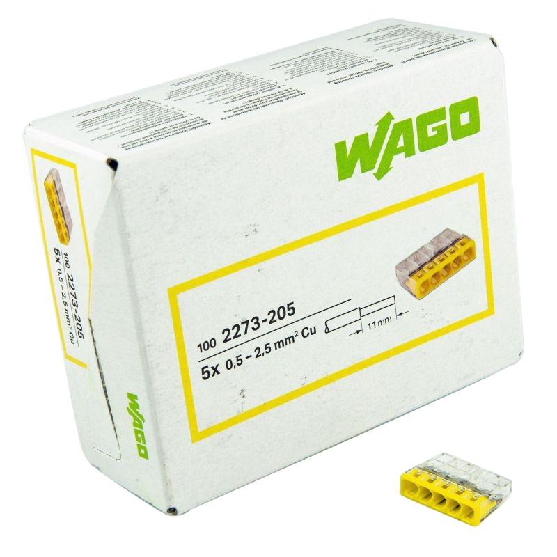 Szybkozlaczki - złączka instalacyjna drut 5x0,5-2,5mm2 2273-205 wago firmy WAGO