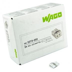 Szybkozlaczki - szybkozłączka 2x0,5-2,5mm2 2273-202 wago