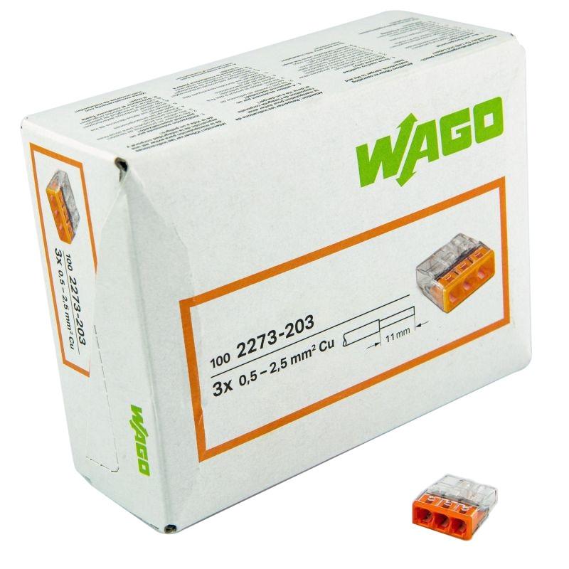 Szybkozlaczki - złączka instalacyjna do puszek 3x0,5-2,5mm2 2273-203 wago firmy WAGO