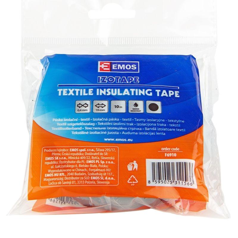 Tasmy-izolacyjne - taśma izolacyjna tekstylna 19mm 10m f6910 emos firmy EMOS