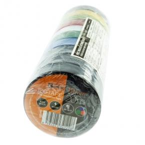 Tasmy-izolacyjne - zestaw taśm izolacyjnych 10 szt. tęcza 19mm/20m f61999 emos