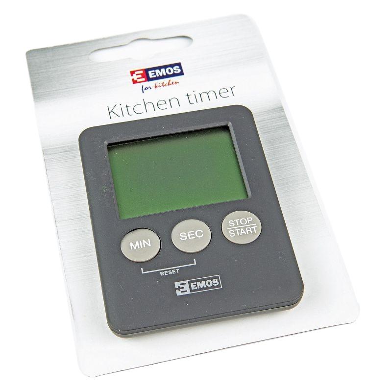 Minutniki - minutnik kuchenny elektroniczny z magnesem na lodówkę e0202 emos firmy EMOS