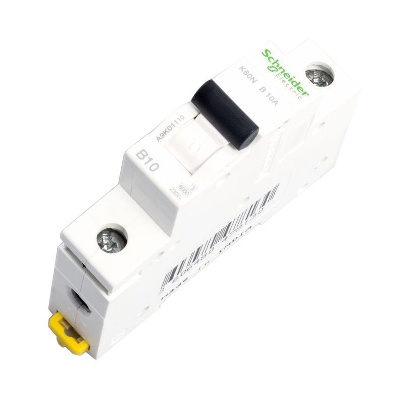Wylaczniki-nadpradowe-bezpieczniki - wyłącznik nadprądowy a9k01110  1p b 10a schneider firmy Schneider Electric