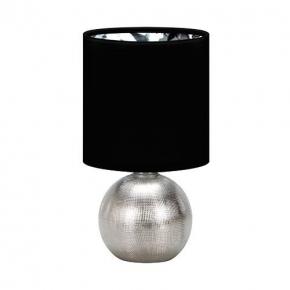 Lampki-nocne - stylowa lampka na stolik w stylu glamour hit perlo silver/black 03290 ideus