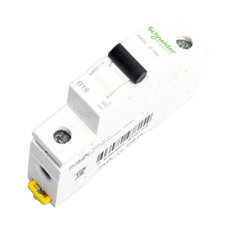 Wylaczniki-nadpradowe-bezpieczniki - wyłącznik nadprądowy instalacyjny 1p b 16a a9k01116  schneider electric firmy Schneider Electric