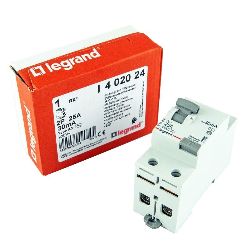 Wylaczniki-nadpradowe-bezpieczniki - wyłącznik róznicowoprądowy 2p 25a ac 402024 rx3 legrand firmy LEGRAND