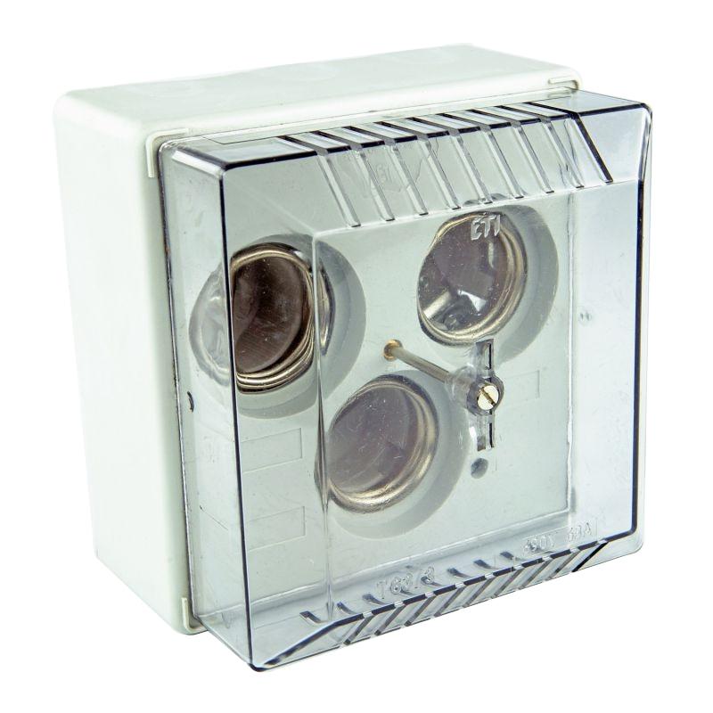 Skrzynki-elektryczne - skrzynka na bezpieczniki potrójna z pokrywą t63/3n delta eti firmy ETI